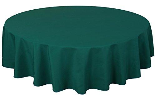 Home Direct Mantel 100% poliéster, Redondo 180cm Verde Azulado