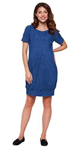 Be Mama - Maternity & Baby wear 2in1 Umstandskleid, Stillkleid, Sommerkleid Baumwolle, Modell: SPORTISSIMA Summer, Jeansblau, L