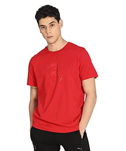 PUMA Herren Ferrari Race Tonal B T-Shirt mit kurzen Ärmeln, Roter Corsa, S