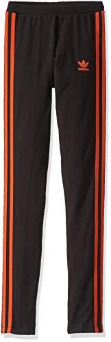 adidas Originals Damen Leggings mit 3 Streifen - Schwarz - XX-Small