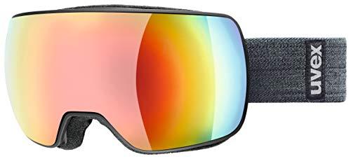 uvex Unisex-Adult, Compact FM Ski Goggles, Black Mat/Rainbow-Rose, One Siz