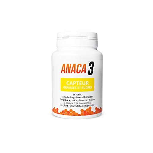 Anaca3 - Complément alimentaire Capteur Graisses et Sucres - 20,6 g - 60 gélules
