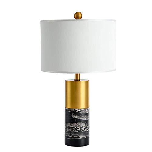 HLWJXS Lámpara de Mesa Lámpara de Noche Moderna Sala de Estar Luz de Lectura, Lámpara de Mesa de Mármol Minimalista Moderna Lámpara de Mesita de Noche de Dormitorio de Modelo Creativo Nórdico