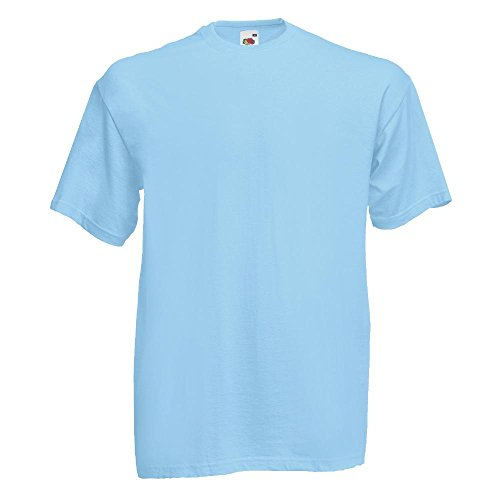 Fruit of the Loom - Classic T-Shirt 'Value Weight' XL,Sky Blue