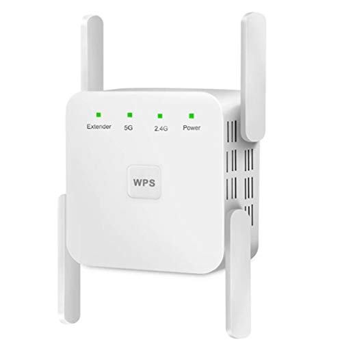 Canjerusof WiFi Booster 5GHz Wireless 5G Wi-Fi Signal Amplifier Repeater 1200Mbps Router Long Range Extender White