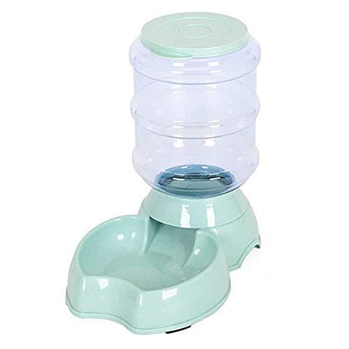 WEHOLY Dîner Grand Animal Automatique pour Mangeoire Fontaine d'eau Potable pour Chats Chiens Environnemental en Plastique Chien Nourriture Bol Animaux Distributeur d'eau (Couleur: Vert)