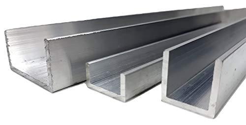 U-Kanal aus Aluminium, 20 mm x 10 mm x 2 mm x 2000 mm, 0