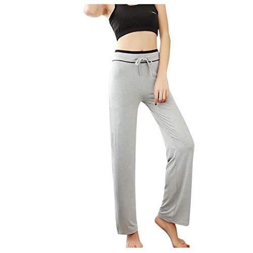 Smileyth Womens High Waist Yoga Pants Fashion Ladies Elastic Waist Drawstring Soft Comfy Trouser Bootcut Workout Sports Pants