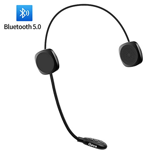 HD Stereo Music for 8 Hours Voice Dial and Promp of Incoming Number Geva Helmet Bluetooth Headset w//Twistable Mic HandsFree Automatic answer Motorcycle Bluetooth Headset