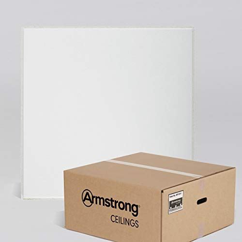 Armstrong Ceiling Tiles; 2x2 Ceiling Tiles – HUMIGUARD Plus Acoustic Ceilings for 9/16' Suspended Ceiling Grid; Drop Ceiling Tiles Direct from the Manufacturer; ULTIMA Item 1912 – 12 pcs White Tegular