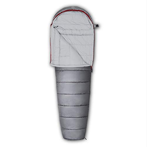 JUSTCAMP Garvin Camping Schlafsack für Erwachsene mit softem Innenmaterial inkl. Packsack