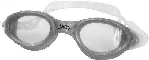 Aqua Speed® Schwimmbrille Pacific Goggle, 100% UVa/UVb, Antifog, Farbe:Weiß