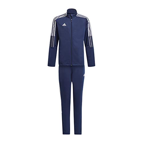 adidas Kinder Sportanzug Tiro Suit Y, marineblau, GP1026, Gr. 140