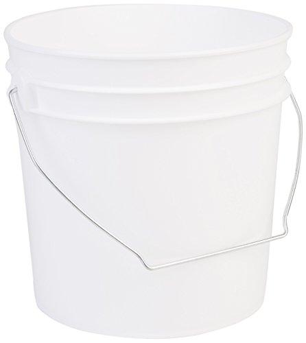 Hudson Exchange Premium 1 Gallon Bucket, HDPE, White, 6 Pack