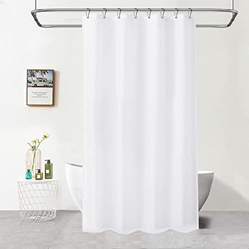 Duschvorhang 120x180 cm, Feagar Shower Curtains Anti-Schimmel Wasserdicht Badevorhang aus Polyester mit 8 Metallöseund8 Ringe|Duschvorhang Textil Duschvorhänge für Dusche & Badewanne