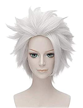 Morvally Ursula Wig Silver Grey Anime Short Layered Cosplay Costume Halloween Wig for Adult
