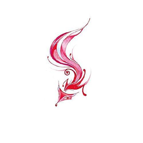 Autocollant imperméable de tatouage de renard roux durable imperméable