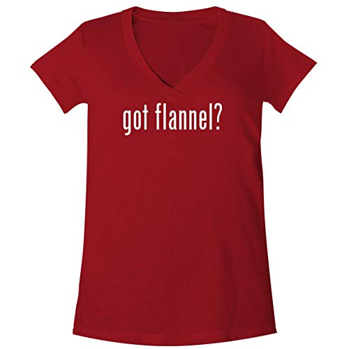 got Flannel? - A Soft & Comfortable Women's V-Neck T-Shirt, Red, X-Large