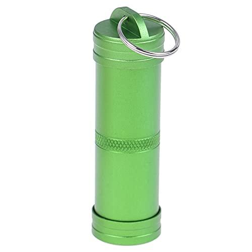 WWWL Pastillero 1 unids Impermeable píldora boxcache caché Soporte de medicamentos contenedor Llavero cárcel Caja de Medicina al Aire Libre Emergencia Supervivencia Viaje campestre (Color : Green)