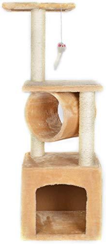 P.J Pet Products CA&T - Poste para escondite y rascador, Talla única, Color Beige