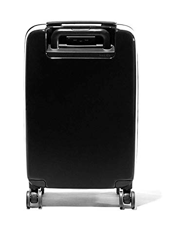 RADEN A22 USB SMART LUGGAGE HARDSIDE Spinner CARRY ON 22'' INCH SUITCASE Matte & GLOSSY Built-in Bluetooth (Black Matte)