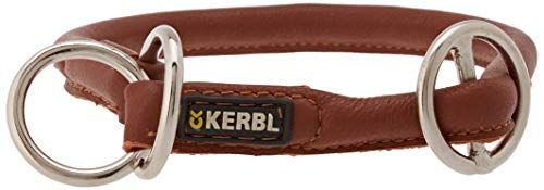 Kerbl Roma Ronde lederen Choke kraag, bruin (Cognac), 50 cm/8 mm
