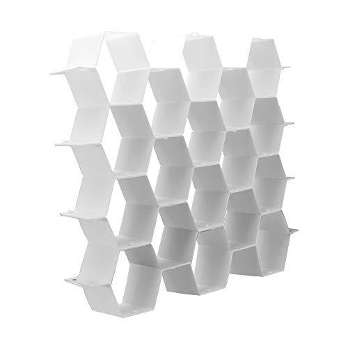 Divisor de cajones de nido de abeja | Organizador de calcetines | Divisor de corbata y cinturón | Almacenamiento de ropa interior | Organizador de caja hexagonal | Almacenamiento ordenado | Pukkr