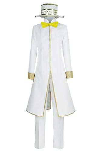 Adult Rohan Kishibe JoJo's Bizarre Adventure Heaven's Door Cosplay Costume Deluxe Suits with Accessories (XX-Large, White)