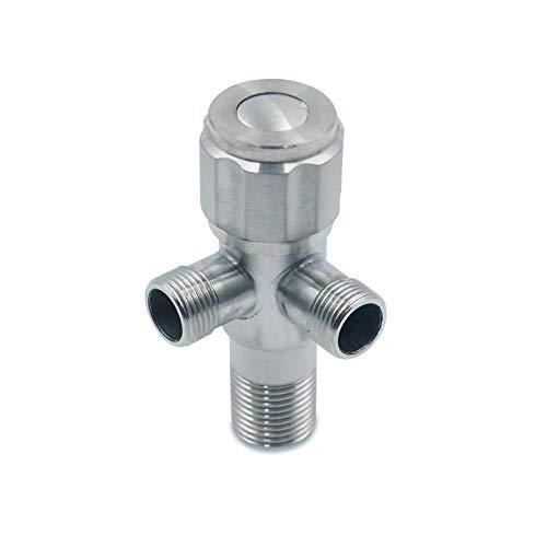 Edelstahl Doppel Eckventil für Waschbecken Regulierventil 3/8 Zoll - Wasser-Anschluss Eckventile