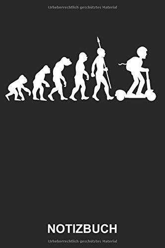 Notizbuch: Elektrischer Roller Elektroroller E-Scooter E-Roller Elektroscooter Fahrer Elektro Evolution | Lustiges Niedliches Tagebuch, Notizheft, ... mit Linien | 120 Seiten liniert | Softcover