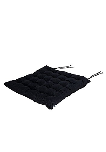 Square Casual Black Seat Cushions