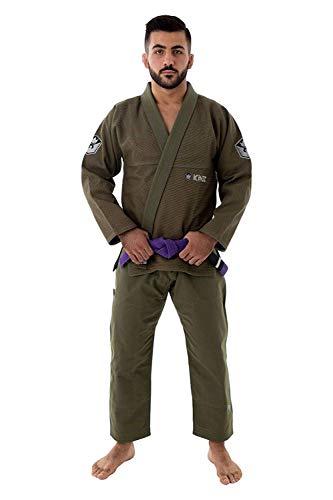 Kingz BJJ Gi Balistico 2.0 Verde Militar Edición Limitada Jiu Jitsu Kimono Vendido por Minotaurfightstore - A1
