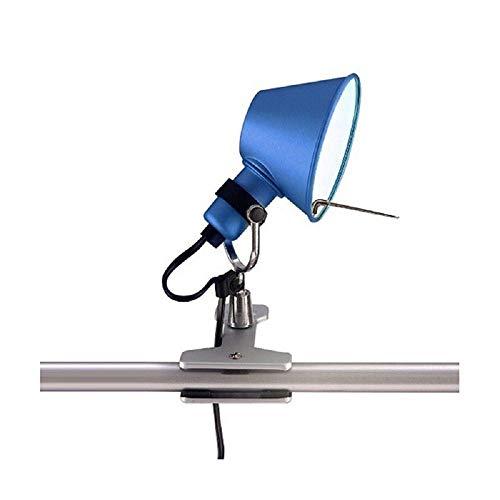 Artemide Tolomeo Micro Pinza Azul Lámpara de Mesa Pared Diseño De Lucchi Fassina