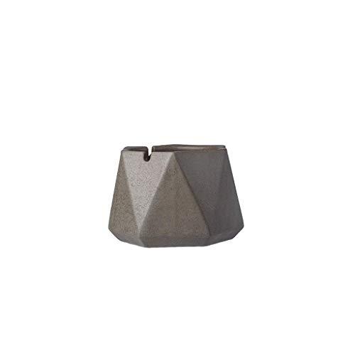L.BAN Cenicero Gris Oscuro Personalidad Creativa Oficina en casa Cenicero de cerámica Tendencia Multifunción