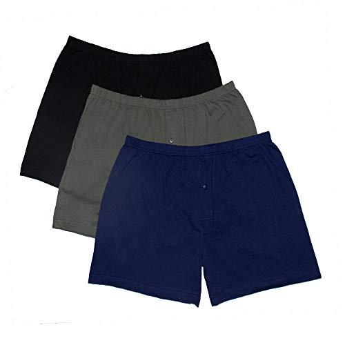 Bigdale - 3er Pack American Boxershorts - Übergrößen bis 10XL / Black/Navy/Grey, 8XL