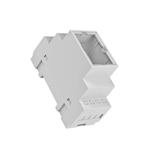 WITTKOWARE Hutschienengehäuse mit Klarsichtdeckel, grau, 90x35x65mm