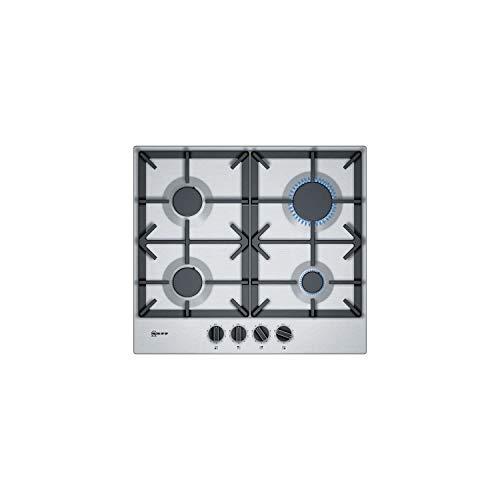 Neff T26DS49N0 N70 Vier-Zonen-Gasherd, Edelstahl, mit gusseisernen Pfannenständern, 59 cm