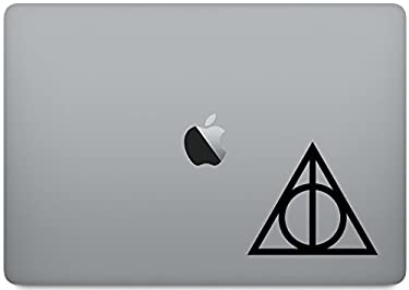 """Laptop Skin Decal - Always Symbol Harry Potter [4 Pieces] - Vinyl Decal Sticker for MacBook Pro 13"""" – and Other Apple Laptop – Car and Windows – Size 4 x 4 Inches"""