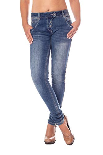 Blue Monkey Damen Jeans Side Stripe Manie-10333 28/32
