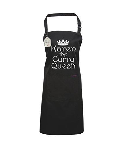 Edward Sinclair Delantal de cocina personalizable con el nombre de The Curry Queen