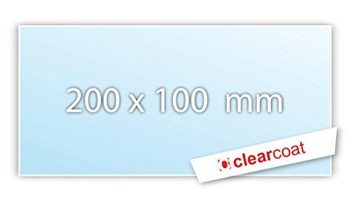 .drivezero. Clearcoat transparente Trägerfolie 200 x 100 mm für alle Plaketten / Vignetten