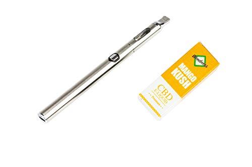 Weedness 1000 MG CBD Mango Kush + CBD Vaporizador - SIN NICOTINA Oil Liquido Encore CBD Cigarrillo Electronico Vaper Smok E Liquid Y Kit Pen Batería Recargable Resistencias