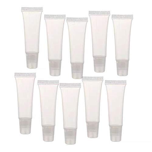 Jede Schachtel mit 50 transparenten 10-ml-Lippenstift-Kunststofftuben - Kosmetika, Make-up-Lippenbalsam, Reiseaccessoires, Geschenken und wiederverwendbaren DIY-Flaschen