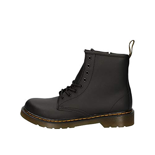 Dr. Martens Kid's Collection 1460 Junior Delaney Boot (Little Kid/Big Kid) Black Softy T 3 UK (US 4...