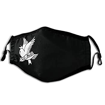 Unisex Face Mask Reusable Lil Peep Cry Baby Bird Tattoo Official Design Dust Protection Balaclava Face Cover Scarf for Sport&Outdoor Black