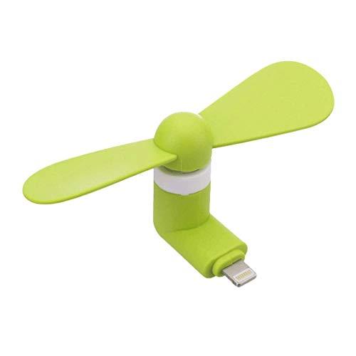 SBSNH Mini Ventilador del teléfono Celular Ventilador Flexible Mini Ventilador portátil para Ventilador de refrigeración portátil para Viajes de Pesca de Camping canotaje (Color : A)