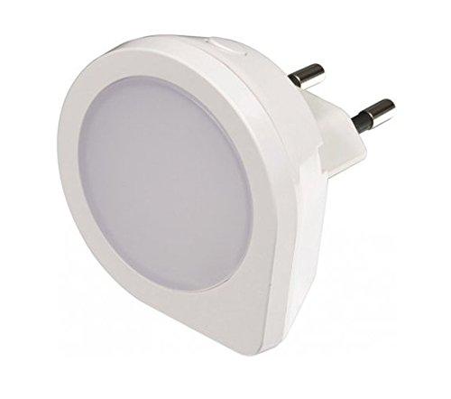Unitec LED de luz nocturna mini con sensor de oscuridad, plástico, blanco, 18.5x 12x 7cm