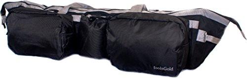 foolsGold Bolso para Alfombrilla de Yoga con Bolsillos – 75 cm - Gris/Negro