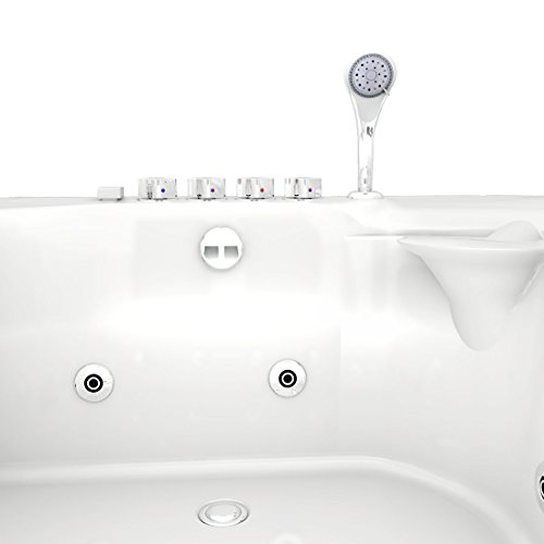 Whirlpool Vollausstattung Pool Eckwanne Wanne A612H-A Reinigungsfunktion 135×180, Selfclean:ohne +0.-EUR, Sonderfunktion2:Ring-Zirkulation +30.-EUR - 6