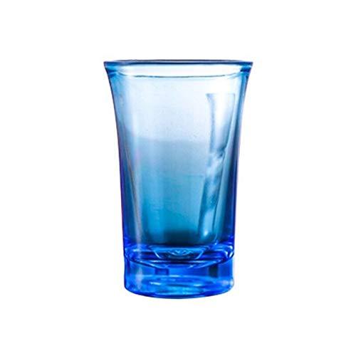 WxberG Juego de 2 tazas de café de cristal de 35 ml, resistentes al calor para capuchino, macchiato, leche, té, zumo, hielo